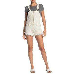 Free People Sunkissed Denim Short Overalls sz 0